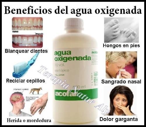 Agua oxigenada beneficios
