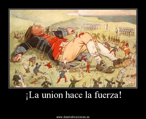 La union hace la fuerza gulliver