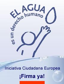 Agua derecho humano firma petición