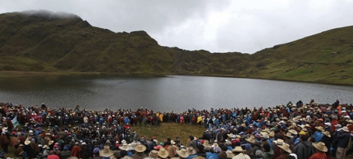 Marcha Nacional por el Agua CONACAMI Peru