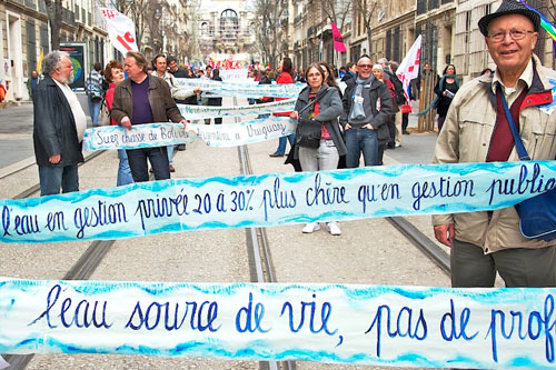 No privatización agua Francia