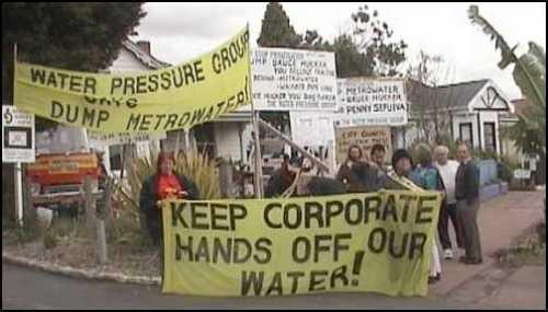 No privatizacion agua Auckland