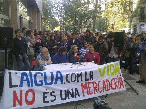 No privatizacion Agua Cataluña