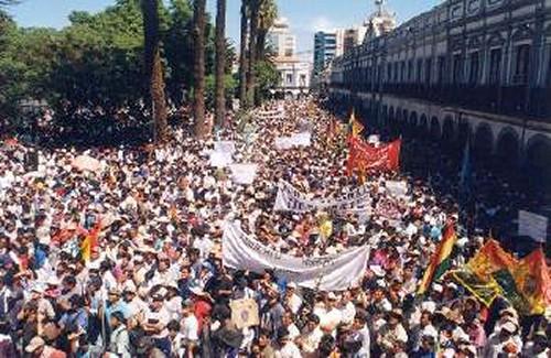 No privatizacion agua Cochabamba