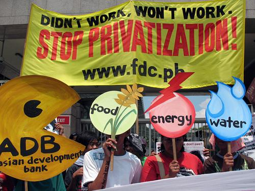 No privatizacion agua Manila