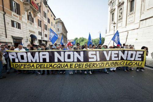 No Privatizacion agua Roma