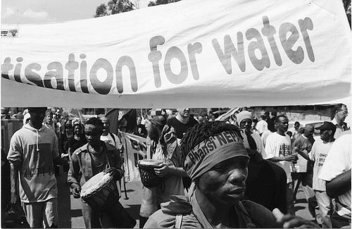 No privatizacion agua Sudafrica