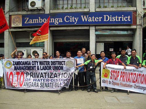 No privatizacion agua Zamboanba