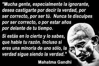Gandhi - la verdad