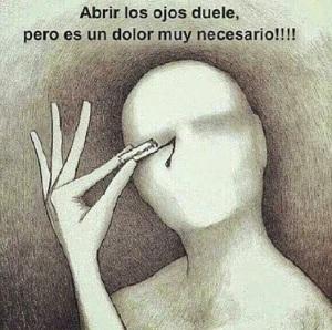 abrir los ojos duele