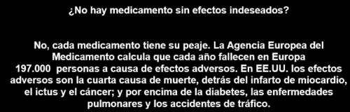 Medicamentos - efectos secundarios