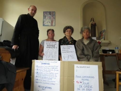 Nicole Delepine - padres en huelga de hambre