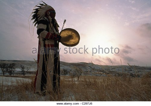 arvol sioux chief-looking-horse-on-reservation-lands-after-a-snow-c297j6
