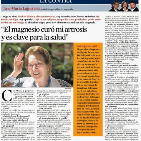 Ana María Lajusticia - La Vanguardia