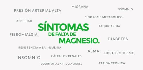 Magnesio - síntomas deficiencia 1