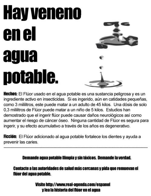 Fluor - hay veneno en el agua potable